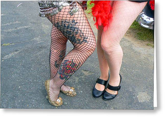 Fishnet And Tattoos Greeting Card