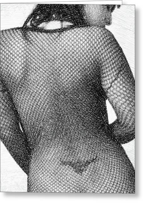 Fishnet Body By Mb Greeting Card