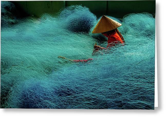 Fishnet Greeting Card by Okan YILMAZ