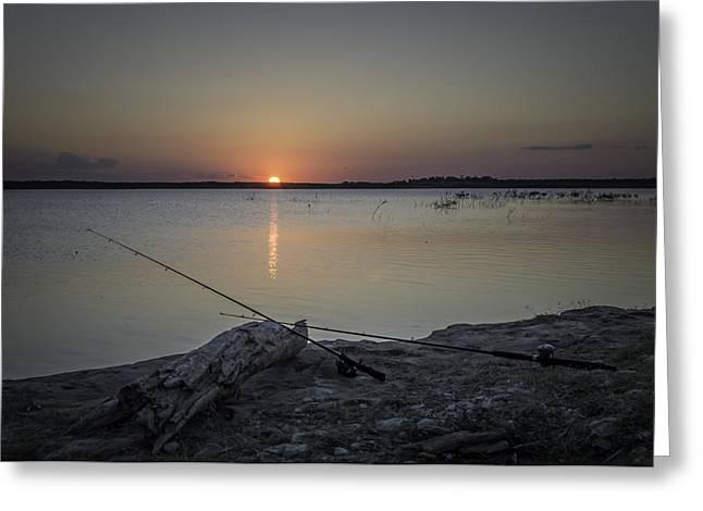 Fishing Poles Greeting Card