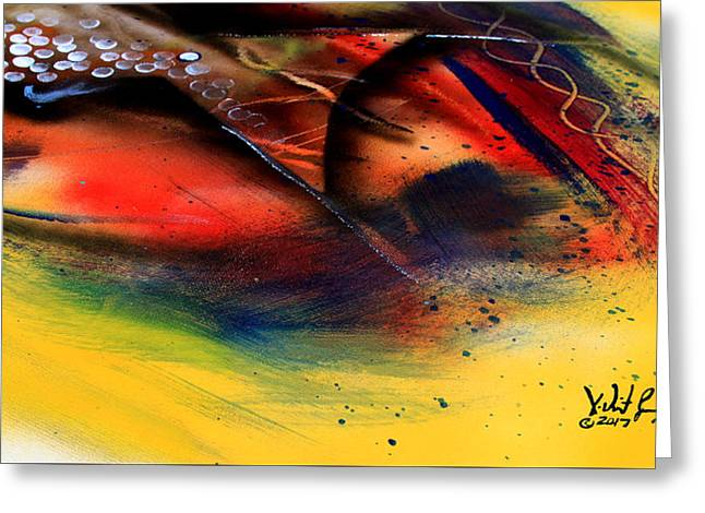 Fishtail Abstract Greeting Card