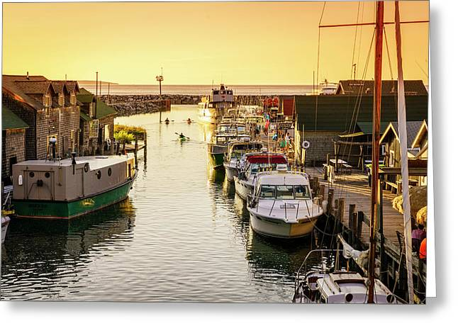 Greeting Card featuring the photograph Fishtown by Alexey Stiop