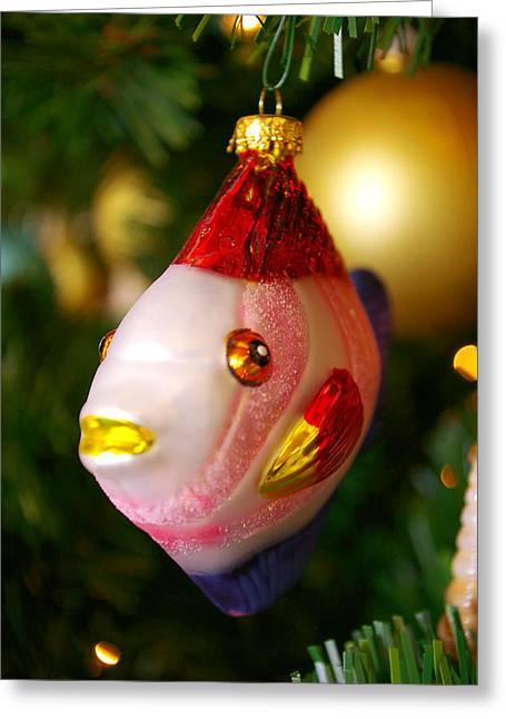 Fishy Ornament Greeting Card by Jera Sky