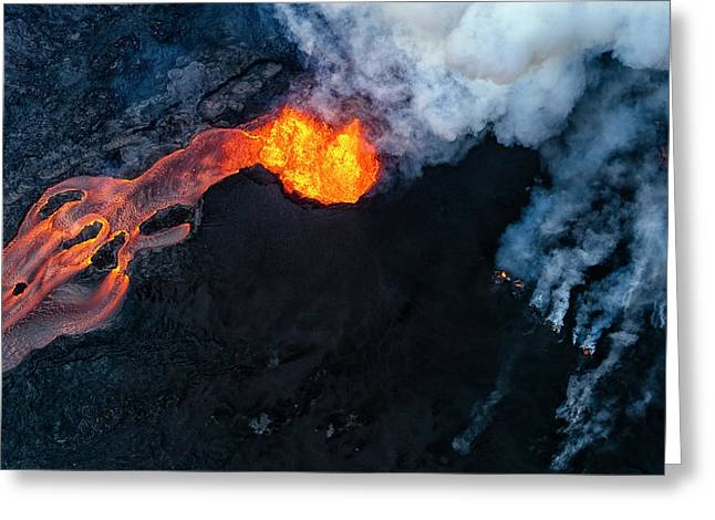 Fissure 8 Cinder Cone Greeting Card