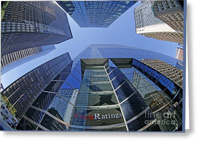 Greeting Card featuring the photograph Fitch Ratings Manhattan Nyc by Juergen Held