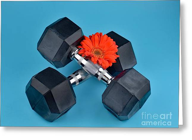 Fitness By Daisy Greeting Card