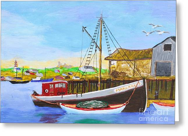 Fitting Out For Seining Greeting Card