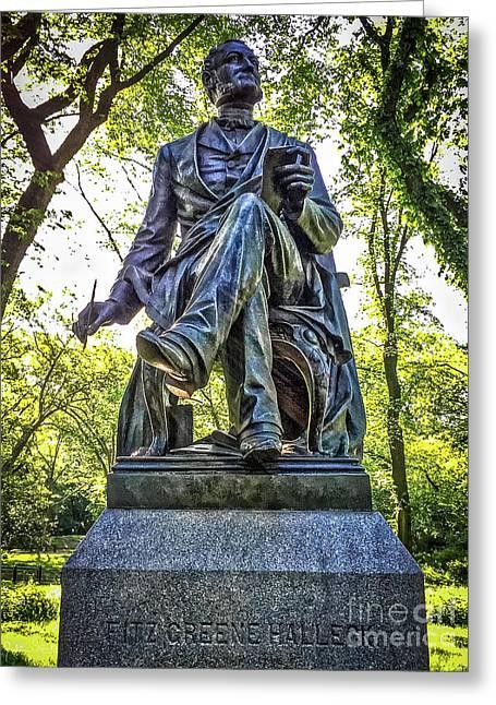 Fitz-greene Halleck Statue Greeting Card by Julian Starks