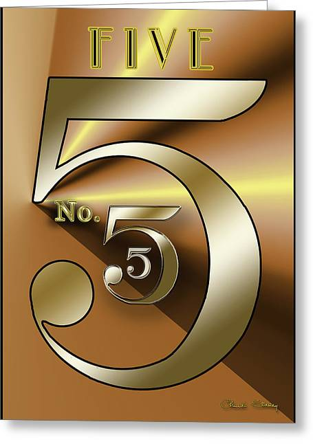 Five 3 Greeting Card
