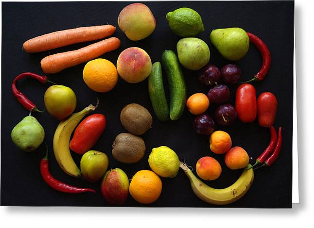 Five A Day Greeting Card by Donald Buchanan