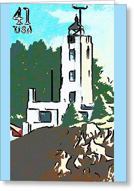 Five Finger Lighthouse Greeting Card by Lanjee Chee