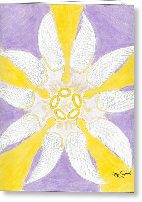 Five Golden Rings Greeting Card by Ani Todd Smith