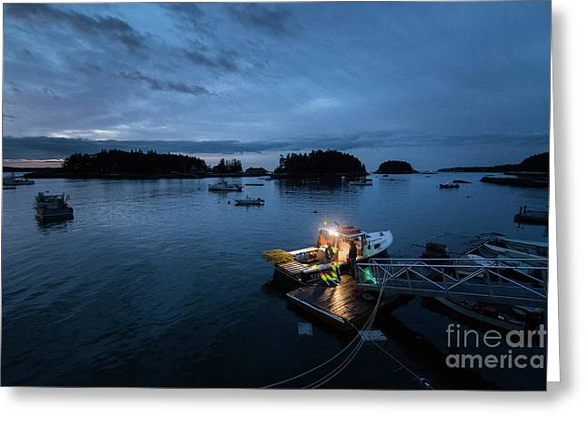 Five Islands Blue Hour Greeting Card by Benjamin Williamson