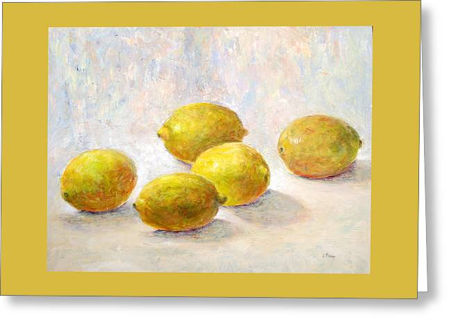 Five Lemons Greeting Card by Jill Musser