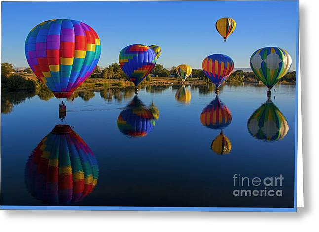 Five On The Water Greeting Card by Mike Dawson