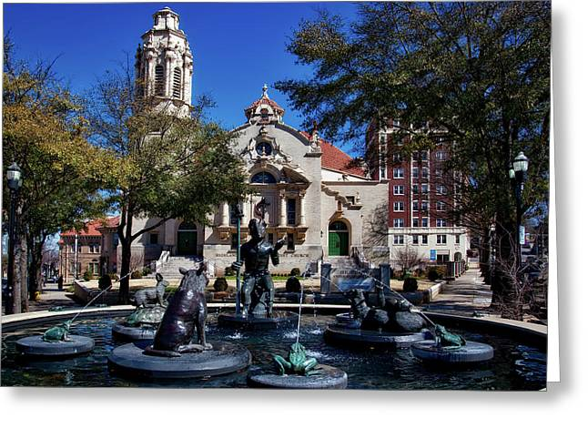 Five Points Fountain Greeting Card by Mountain Dreams