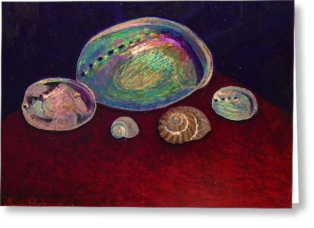 Terry Perham Paintings Greeting Cards - Five shells Greeting Card by Terry Perham