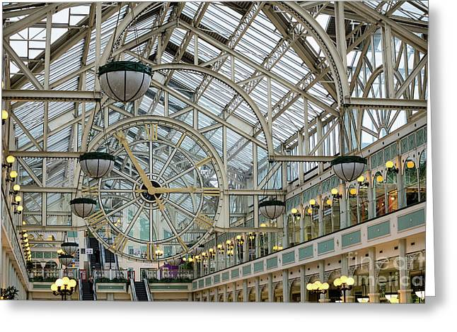 Five To Three - At St. Stephens Green Shopping Centre In Dublin Greeting Card