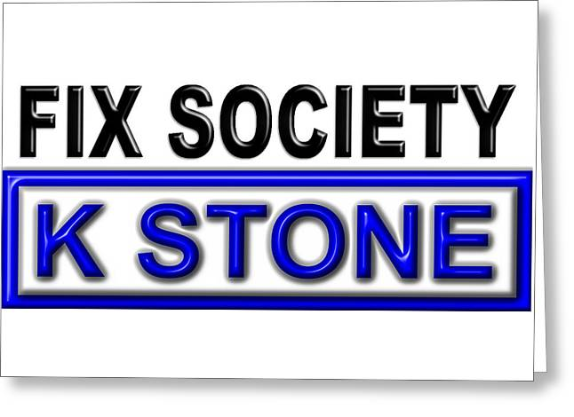 Fix Society 2nd Edition Greeting Card