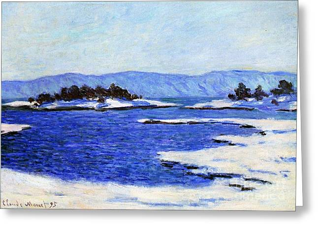 Fjord At Christiania Greeting Card by Claude Monet