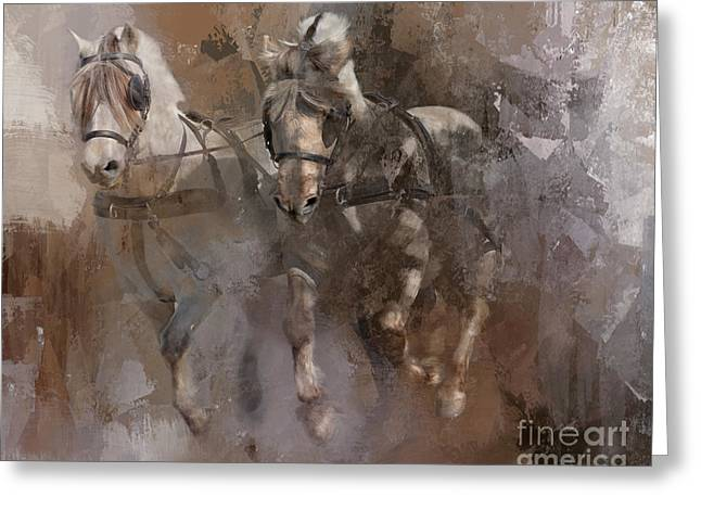 Fjords On The Run Greeting Card by Kathy Russell