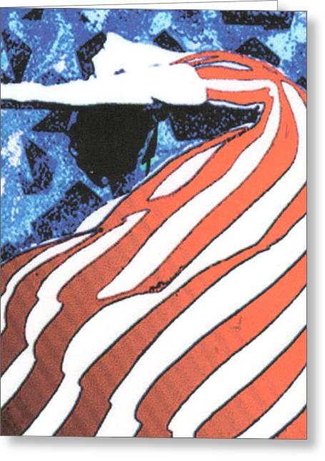 Flag Dancer Greeting Card by Linda Crockett