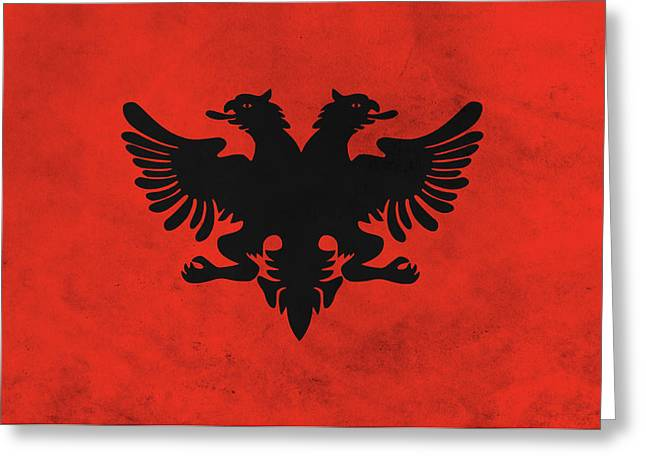 Flag Of Albania Greeting Card