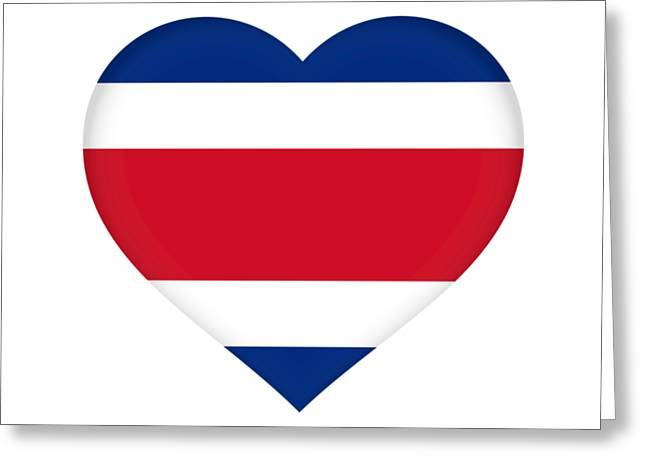 Flag of costa rica greeting cards fine art america flag of costa rica heart greeting card m4hsunfo