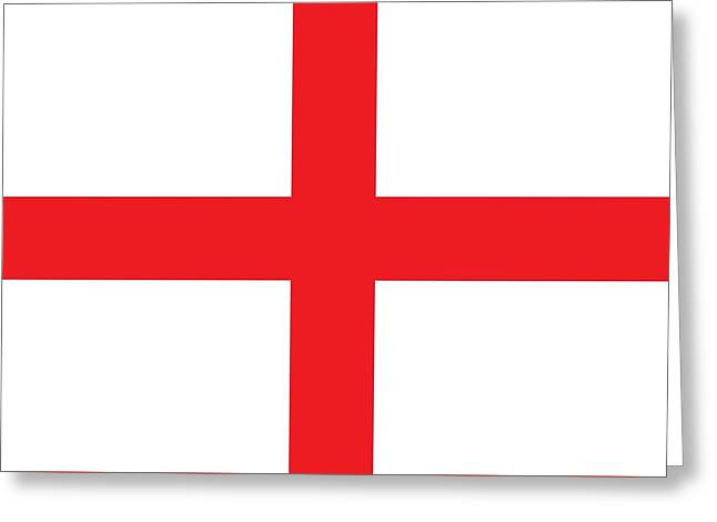 Flag Of England Greeting Card