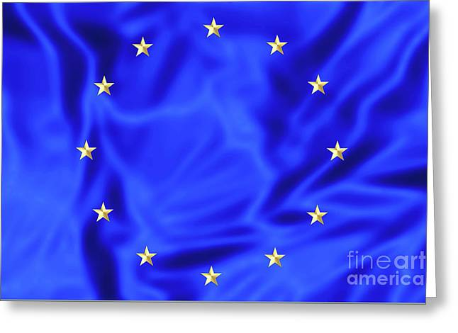 Flag Of Europe Greeting Card
