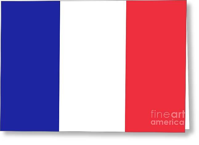 Flag Of France High Quality Authentic Image Greeting Card