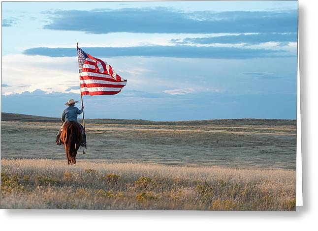 Flag Of Freedom Greeting Card
