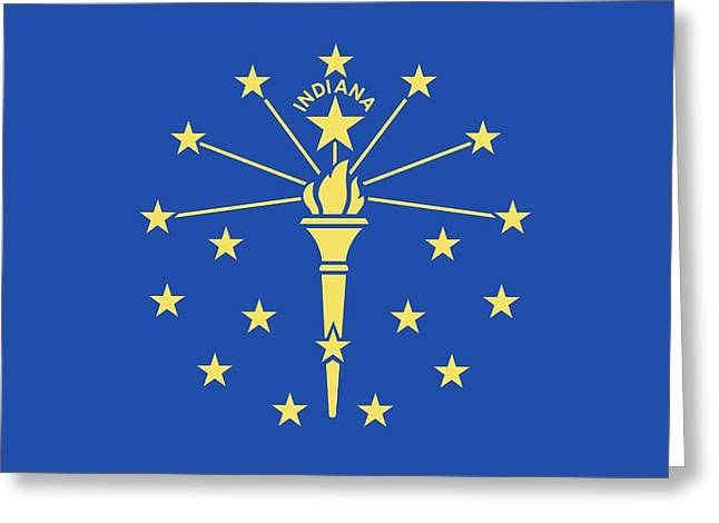 Flag Of Indiana Greeting Card by American School