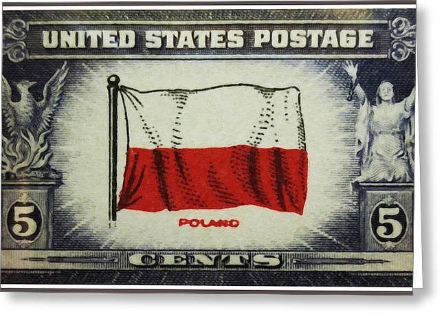 Flag Of Poland Greeting Card
