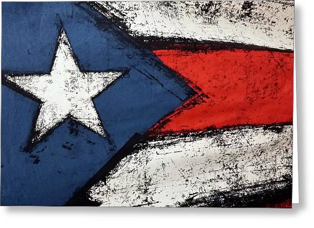 Flag Of Puerto Rico  Greeting Card by Rob Hans