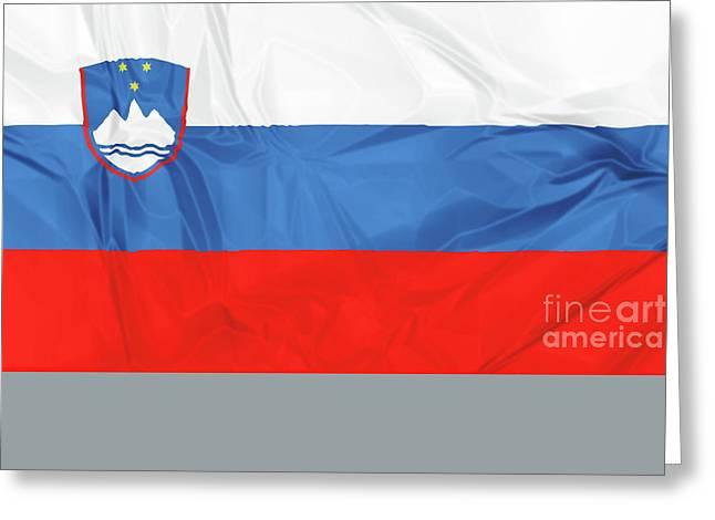 Flag Of Slovenia Greeting Card