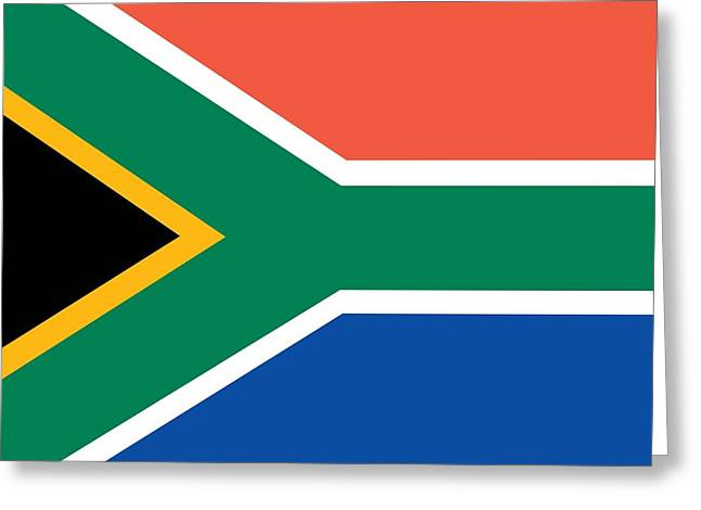 Flag Of South Africa Greeting Card by Unknown