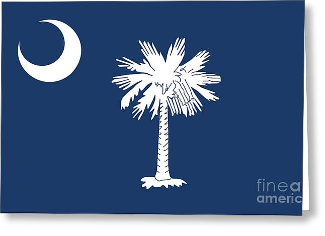 Flag Of South Carolina Authentic Version Greeting Card by Bruce Stanfield