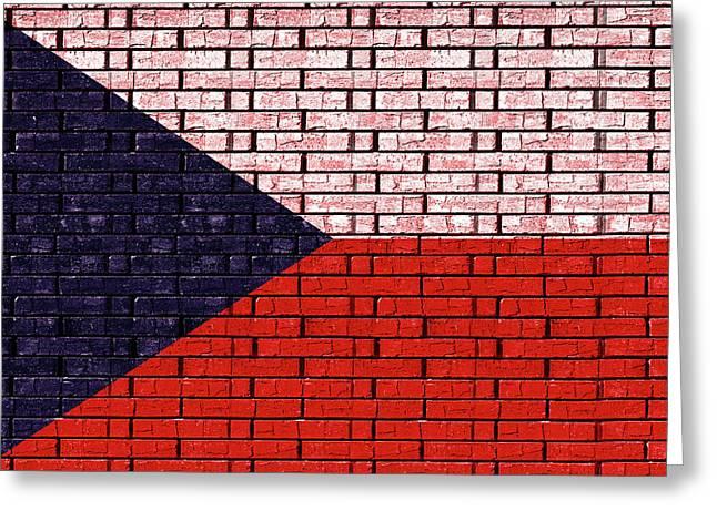 Flag Of The Czech Republic Graffiti Greeting Card