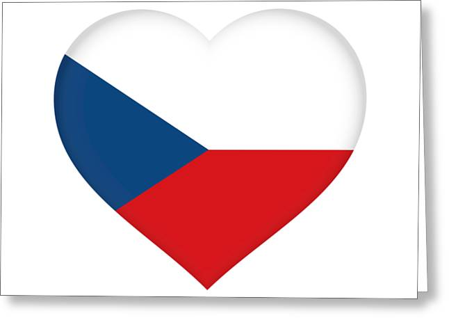 Flag Of The Czech Republic Heart Greeting Card