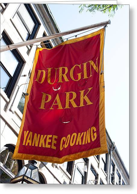Flag Of The Historic Durgin Park Restaurant Greeting Card