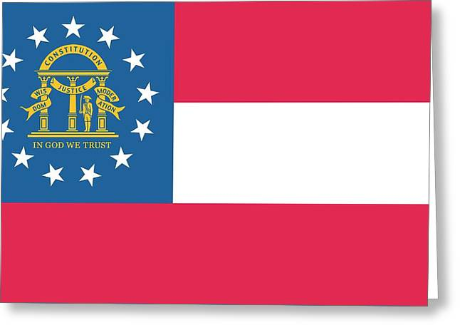 Flag Of The State Of Georgia Greeting Card by American School