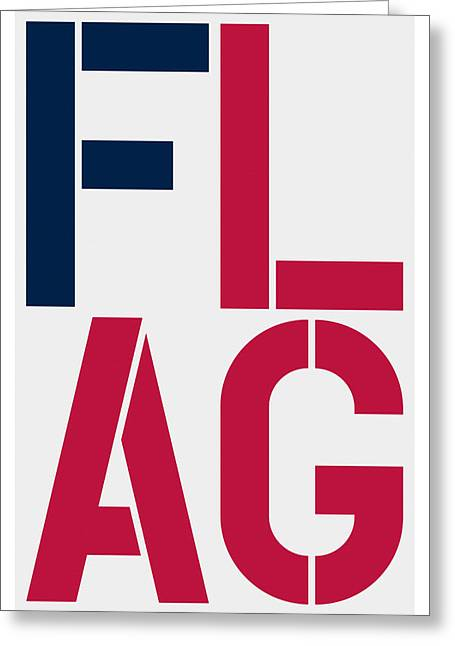 Flag Greeting Card by Three Dots