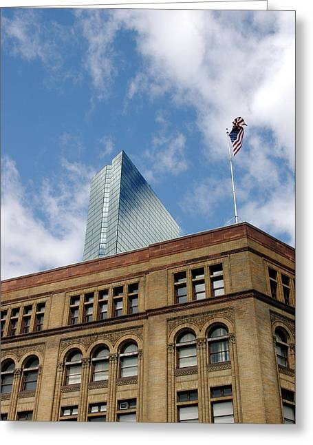 Flagg Building John Hancock Greeting Card