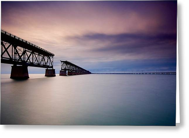 Flagler Bridge Bahia Honda Greeting Card