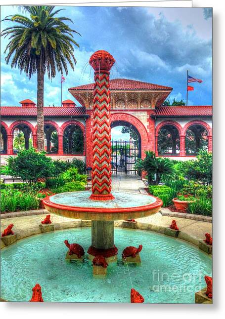 Flagler College Fountain Greeting Card