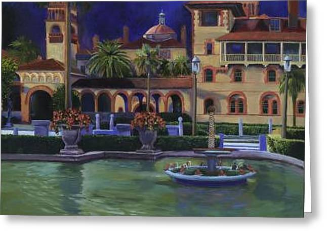 Flagler College II Greeting Card by Christine Cousart