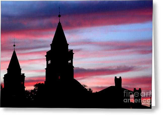 Flagler Towers Greeting Card by Addison Fitzgerald