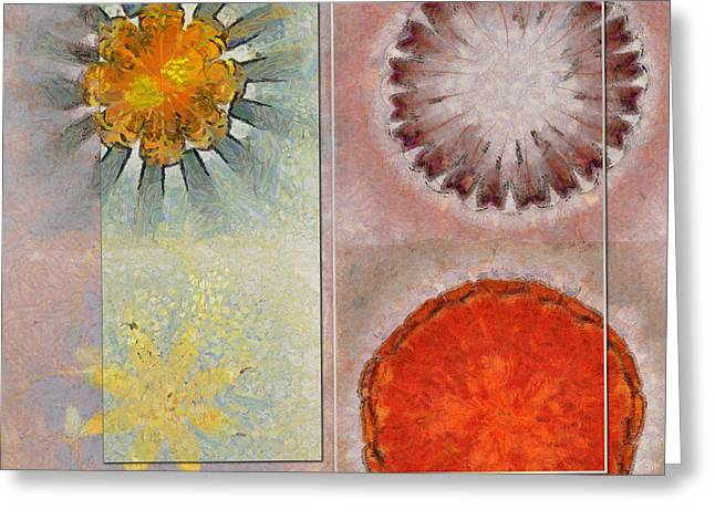 Flagonet Reality Flowers  Id 16165-093245-05721 Greeting Card by S Lurk