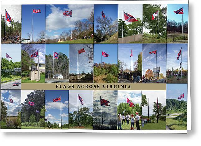Flags Across Virginia Greeting Card by Judy Smith